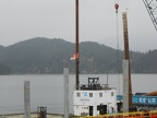 Town of Gibsons installing new dock at the wharf