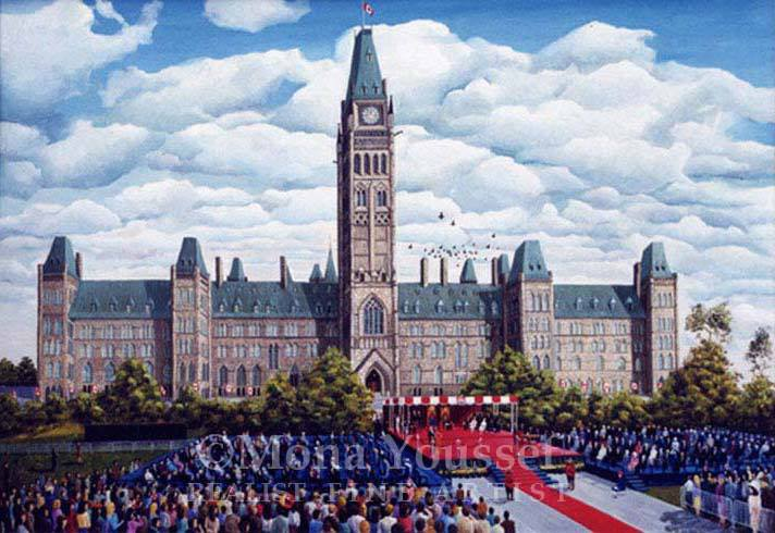 The Canadian Constitution Act- painting by Mona Youssef
